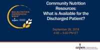 Community Nutrition Resources: What is Available for the Discharged Patient?