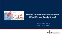 Protein in the Critically Ill Patient: What do we really know?