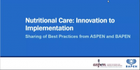 Nutritional Care: Innovation to Implementation