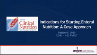 Indications for Starting Enteral Nutrition: A Case Approach icon