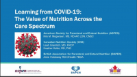 Learning from COVID-19: The Value of Nutrition Across the Care Spectrum icon