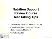 Nutrition Support Review Course