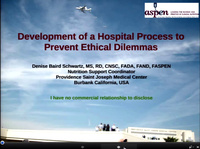 Creating A Health Care Environment to Prevent Nutrition Support Ethical Dilemmas