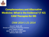 Complementary and Alternative Medicine: What is the Evidence?