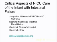Pediatric Intestinal Failure from the Neonate to the Older Child: When Things Are Not Going Well