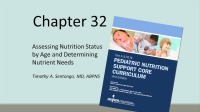 Assessment of Nutrition Status by Age and Determining Nutrient Needs (Video)