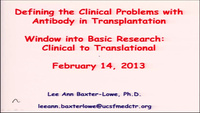 Window into Basic Research: Clinical to Translational