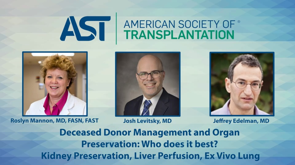 Deceased Donor Management and Organ Preservation: Who does it best? Kidney Preservation, Liver Perfusion, Ex Vivo  Lung