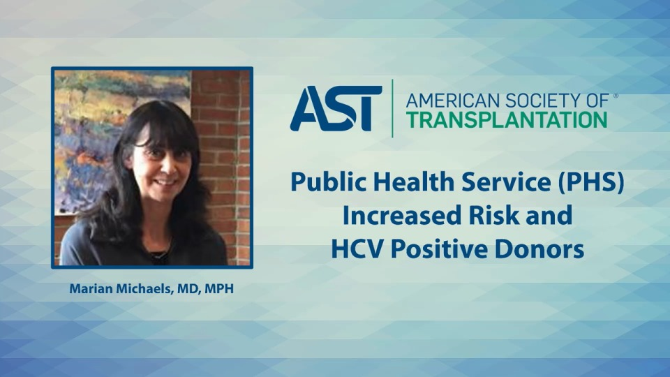 Public Health Sevice (PHS) Increased Risk and HCV Positive Donors