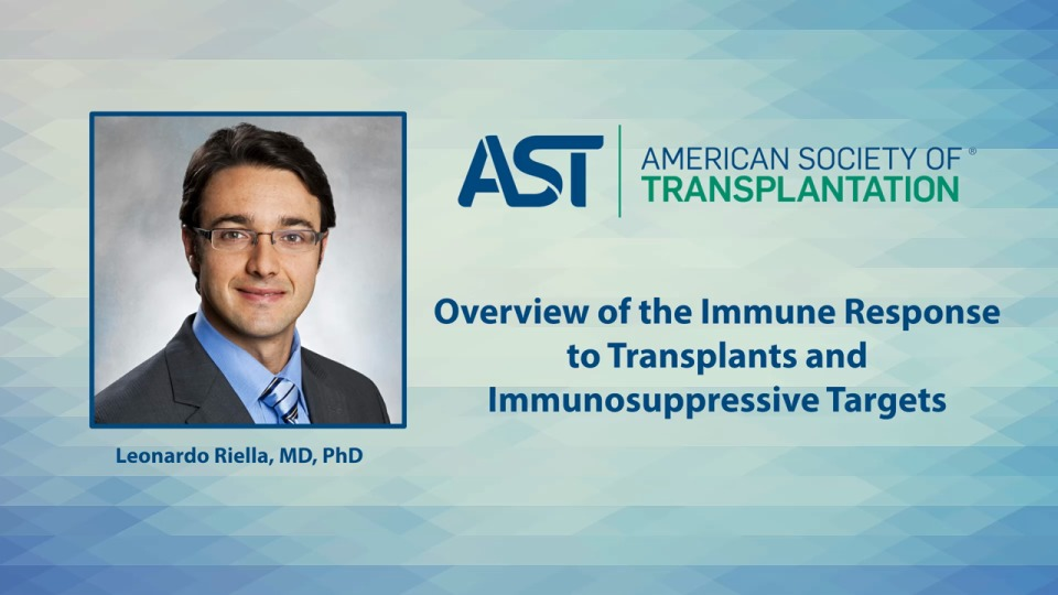 Overview of the Immune Response to Transplants and Immunosuppressive Targets