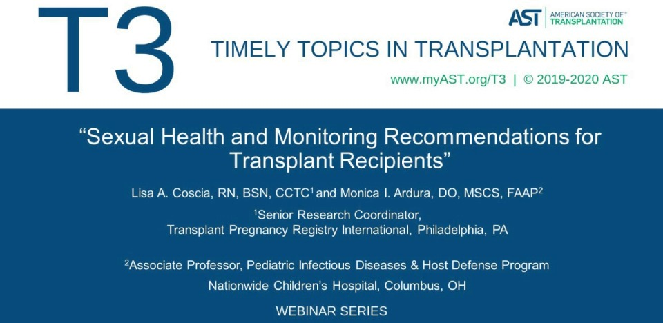 Sexual Health and Monitoring Recommendations for Transplant Recipients