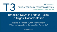 Breaking News in Governmental Legislation in Organ Transplantation
