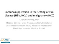Immunosuppression in the setting of viral disease and malignancy