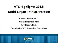 ATC 2012 Highlights: Multi-Organ Transplantation