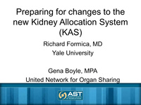 Kidney Allocation System Changes: Strategies to  Improve Recipient Readiness and Reduce Disparities