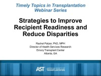 Strategies to Improve Recipient Readiness and Reduce Disparities