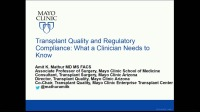 Regulatory Quality: What you Need to Know: Clinical Perspective