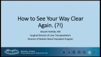How to See Your Way Clear Again