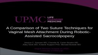 A Comparison of Two Suture Techniques for Vaginal Mesh Attachment during Robotic-Assisted Sacrocolpopexy