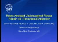 Robot Assisted Vesicovaginal Fistula Repair via Transvesical Approach