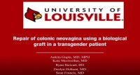 Repair of colonic neovagina using a biological graft in a transgender patient