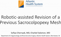 Robotic-assisted revision of a previous sacrocolpopexy mesh