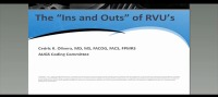 The Ins and Outs of RVU's