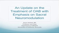OAB with Emphasis on Neuromodulation
