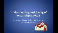 Understanding Positioning of Research Proposals