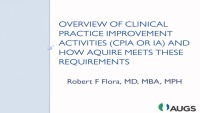 Overview of Clinical Practice Improvement Activities (CPIA or IA) and How AQUIRE Meets These Requirements
