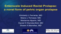 Enterocele Induced Rectal Prolapse: A Novel Form of Pelvic Organ Prolapse