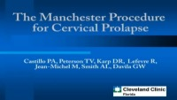 The Manchester Procedure for Cervical Prolapse