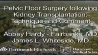 Pelvic Floor Surgery Following Kidney Transplantation: Technique and Comment