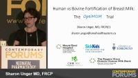 Human Versus Bovine Fortification For Breast Milk (Rx = .75 hr.)