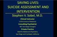 Saving Lives: Suicide Assessment and Intervention (Rx = .25 hr.)