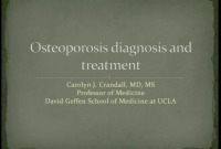 Osteoporosis: Diagnosis and Treatment (Rx = .25 hr.)