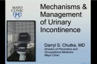 Mechanisms and Management of Urinary Incontinence (Rx = .5 hr.)