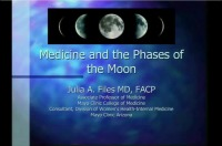 Impact of the Menstrual Cycle on Medical Illness (Rx = .25. hr.)