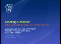 Smoking Cessation: How Can It Happen After 40? (Rx = .25 hr.)
