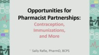 #13 Opportunities for Pharmacist Partnerships: Contraception, Immunizations, and More (Rx = .25 hr.)