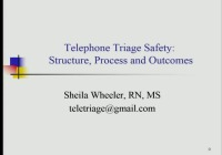 #21 Telephone Triage Safety: Structure, Process and Outcomes