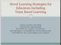 #41 Novel Learning Strategies for Educators Including Team-Based Learning and Online Resources