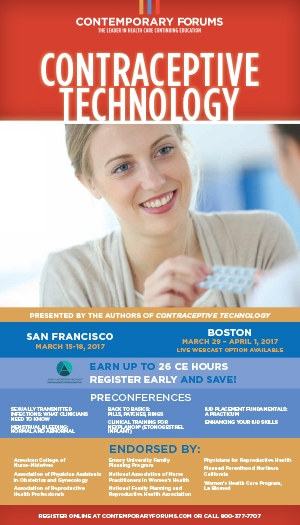 2017 Contraceptive Technology Boston
