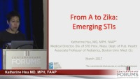 From A to Zika: Emerging Sexually Transmitted Infections (Rx = .25 hr.)