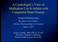 A Cardiologist's View of Medication Use in Infants with Congenital Heart Disease (Rx = .75 hr.)