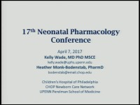 What's New in Neonatal Pharmacology and Medication Use in the NICU? (Rx = .75 hr.)