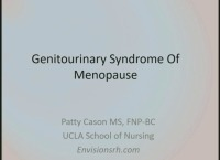 Genitourinary Syndrome of Menopause (Rx = .5 hr.)