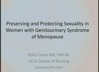 Preserving and Protecting Sexuality in Women with Genitourinary Syndrome of Menopause (Rx = .25 hr.)