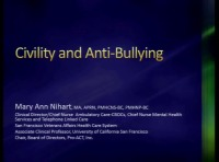 Civility Training and Anti-Bullying Community Programs - Q&D - Faculty Panel
