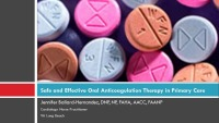 Safe and Effective Anticoagulation Therapy (Rx = .5 hr.) - Q&D (Rx = .25 hr.) - Faculty Panel
